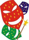 狂欢节面具 — 图库矢量图片