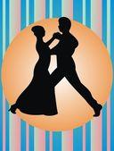 Pair dance — Stock Vector