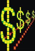 Strong dollar — Stock Vector