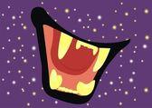 Predatory mouth — Stock Vector