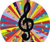 Musical key — Stock Vector
