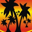 The big palm trees — Image vectorielle