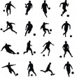 Football players — Imagen vectorial