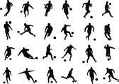 Football players — Stock Vector