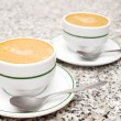 2 cups of fresh coffee — Stockfoto
