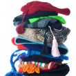 Winter hats stack | Isolated — Stock Photo