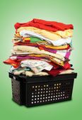 Stack of bed-clothes   Clipping paths — Stock Photo