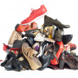 Stock Photo: Pile of shoes | Isolated