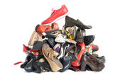 Pile of shoes | Isolated — Stock Photo