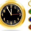 Stock Vector: Golden clocks set #1 | Vector.ai 10