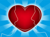 Love heart and lovers | Vector.ai 10 — Vettoriale Stock
