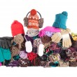 Stock Photo: Heap of winter accessories | Isolated