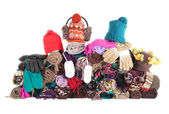 Heap of winter accessories | Isolated — Stock Photo