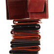 Stack of wallets #5 | Isolated — Stock Photo
