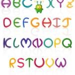 Alphabet #1. Plasticine   Isolated — Stock Photo #4887690