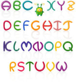Alphabet #1. Plasticine | Isolated — Foto de Stock