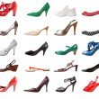Shoes female set. Right foot | Isolated — Stock Photo