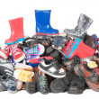 Stock Photo: Pile of child shoes | Isolated