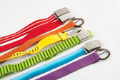 Colorful belts | Isolated — Stock Photo