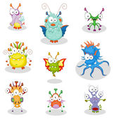 Cartoon monsters — Stock Vector