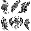 Royalty-Free Stock Vector Image: Wild animals tattoo
