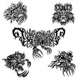 Stock Vector: Tattoo lions