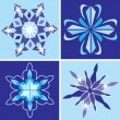 Snowflakes set — Stock Vector #4340879