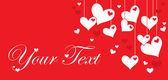 Valentine's day vector post card — Vector de stock