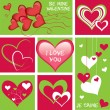 Collection of hearts — Stock Vector
