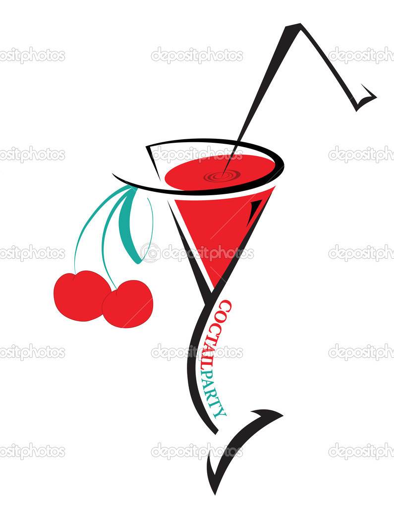 Cocktail Logo Cocktail Logo With Cherry on