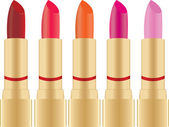 Collection of lipstick — Stock Vector