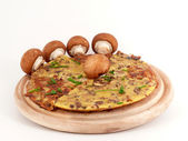 Omelette with mushrooms — Stock Photo