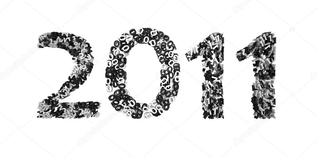 Glittery 2011 background for the new year — Stock Photo #4460771