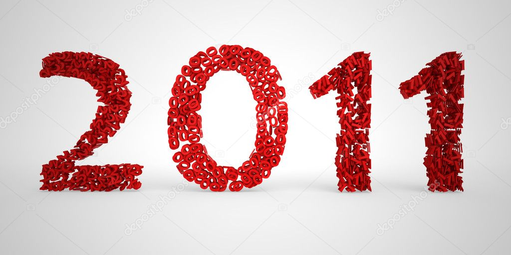 Glittery 2011 background for the new year  Stock Photo #4460772
