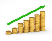Money Graph — Stock Photo