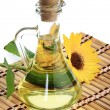 Stock Photo: Bottle of sunflower oil