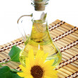 Bottle of sunflower oil — Stock Photo
