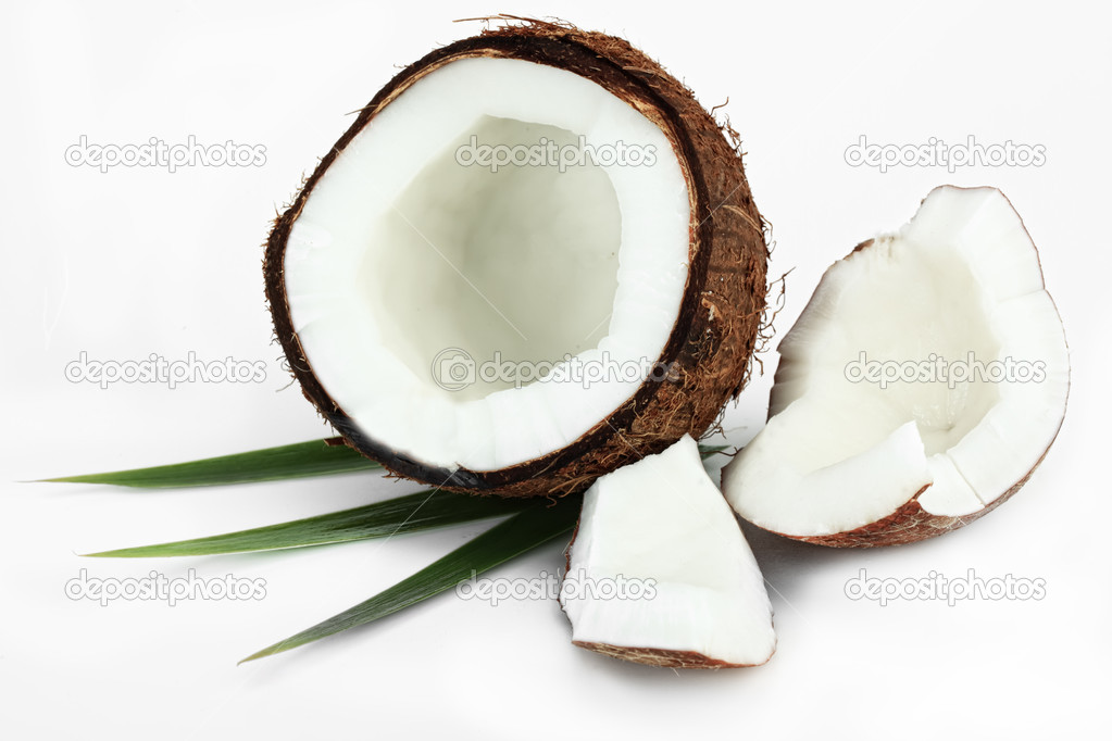 Coconut on a white background — Stock Photo #4228644
