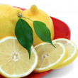 Fresh Lemon closeup. — Stock Photo