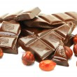 Dark chocolate and hazelnut - Stock Photo