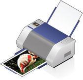 InkJet Printer — Stock Vector