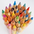 Group of colored pencils on the white background — Stock Photo