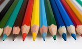 Clouse-up of group of color pencils — Stock Photo