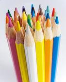 Groupe de crayons de couleur — Photo