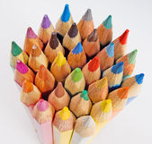 Group of colored pencils on the white background — Стоковое фото