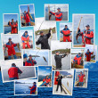 Royalty-Free Stock Photo: A collage of fishing in Norway