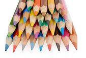 ομάδα μολύβια χρώματος για το λευκό φόντο — Φωτογραφία Αρχείου