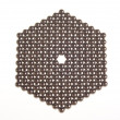 Hexagon of small metal balls on the white background — Stock Photo