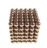 Cube of shiny metallic black balls — Stock Photo