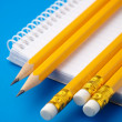 Notepad and few pencils — Stock Photo